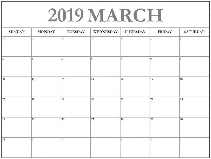 March 2019 Canada Calendar