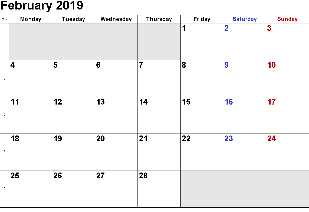 Telugu Calendar February 2019