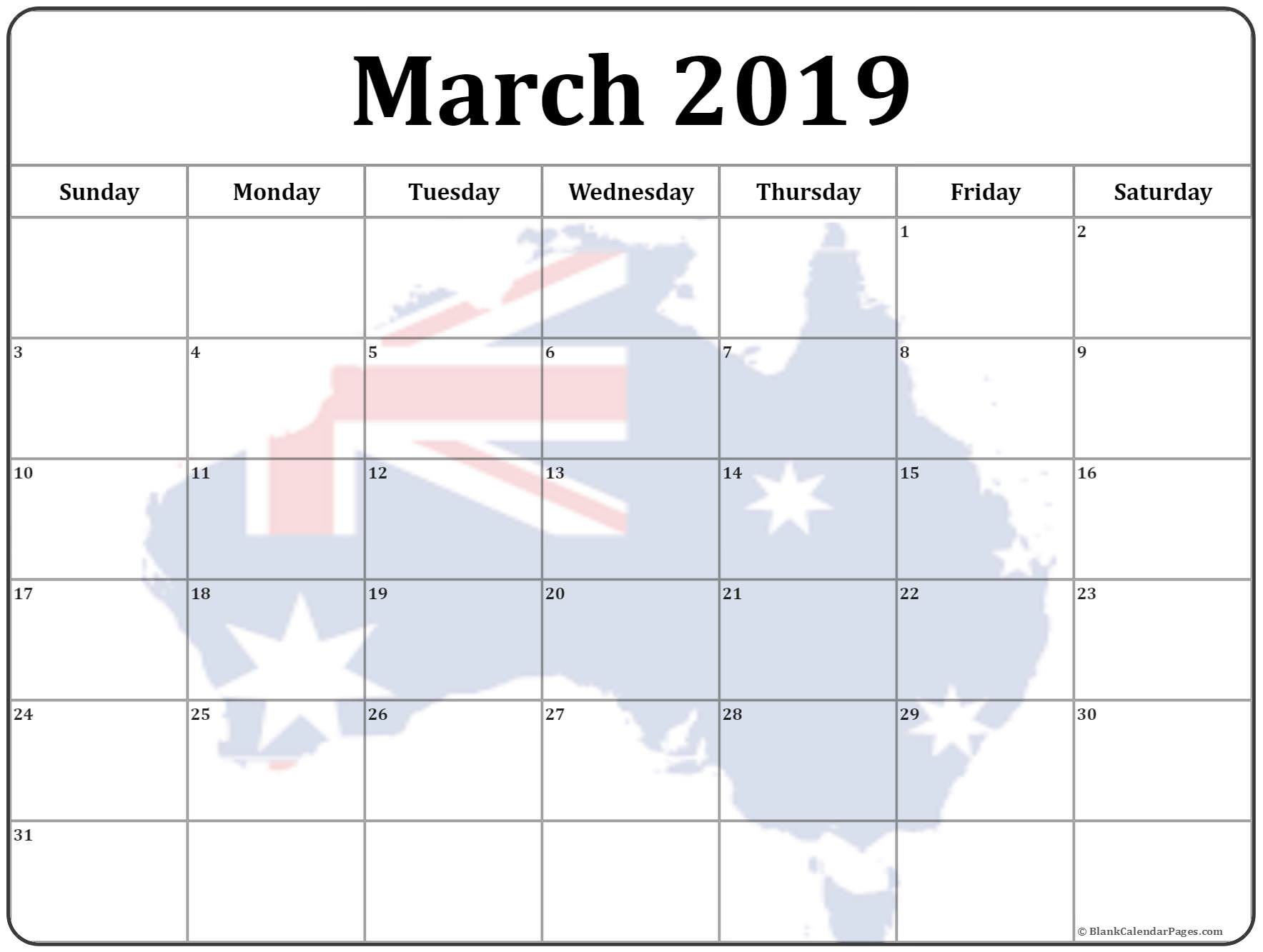 March 2019 Australia Calendar