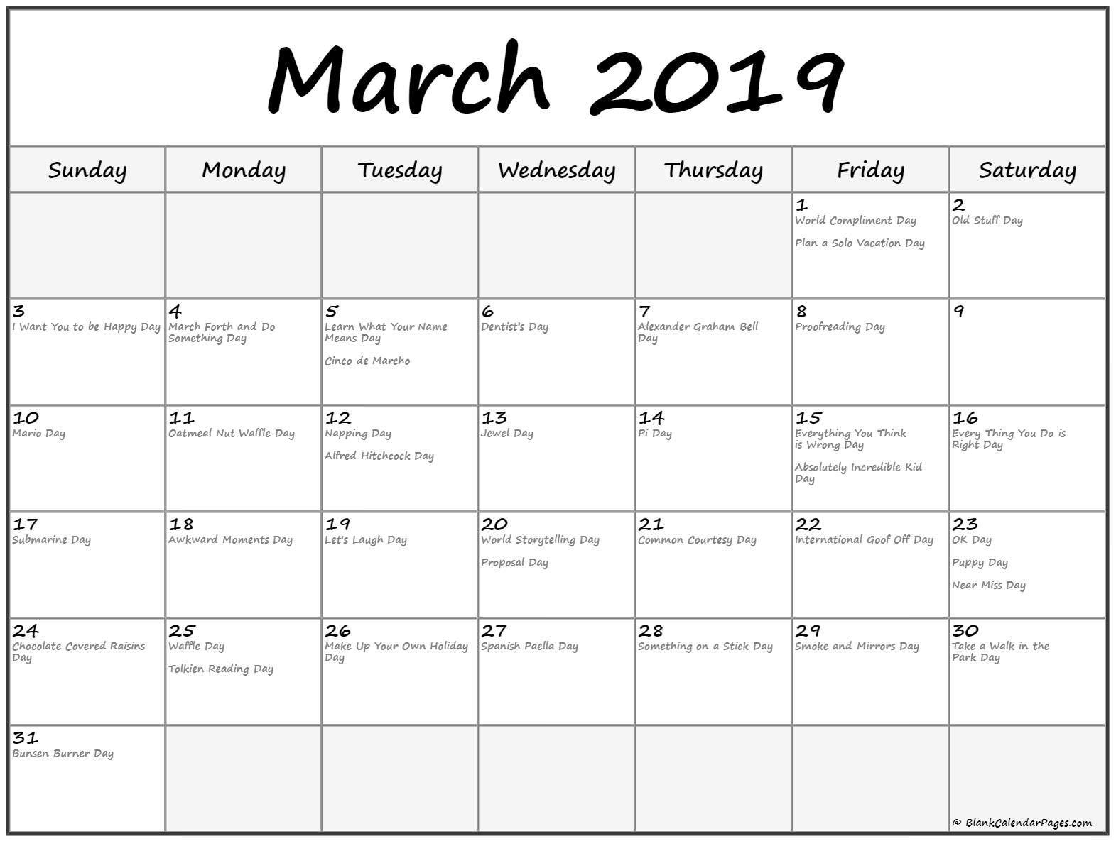 March 2019 Calendar Philippines