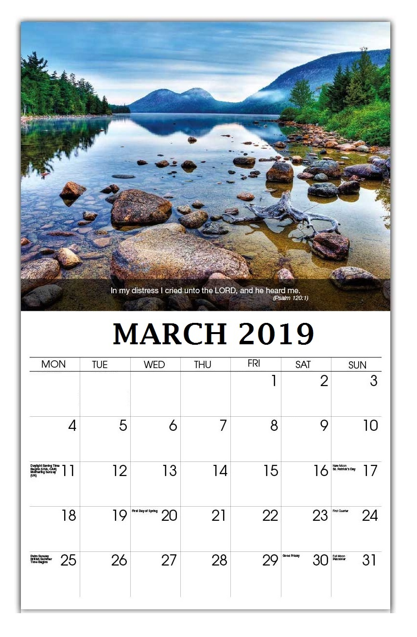 March 2019 Wall Calendar Printable