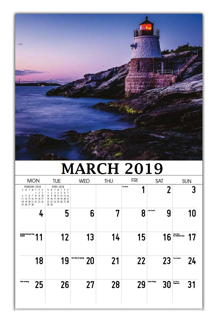 March 2019 Wall Calendar Template