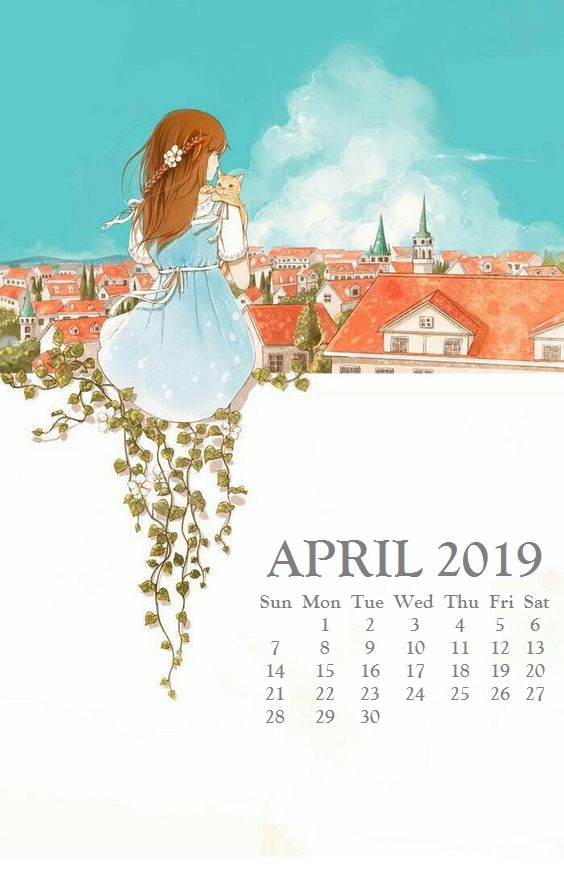 April 2019 Calendar For iPhone