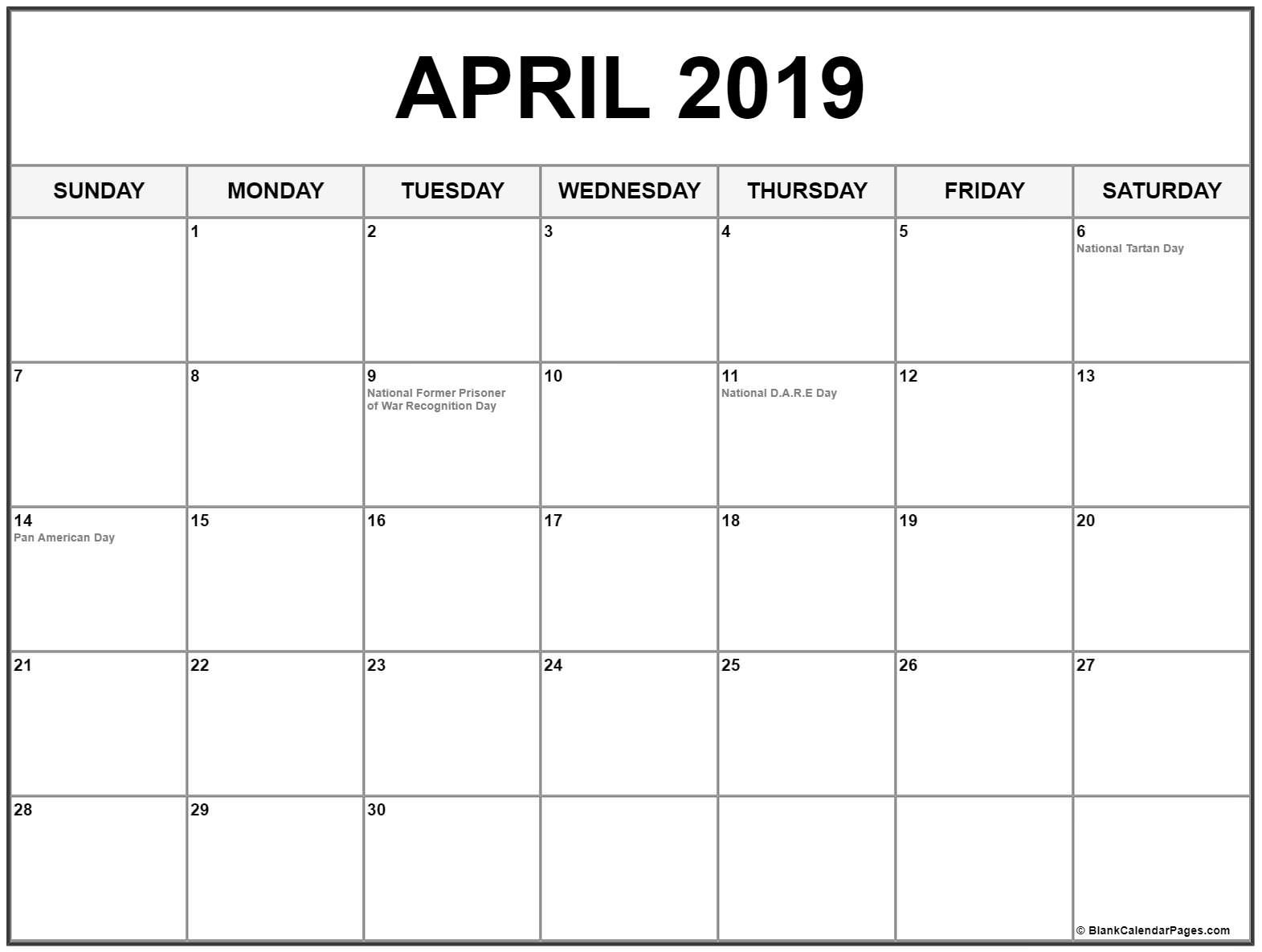 April 2019 Calendar Philippines With Holidays