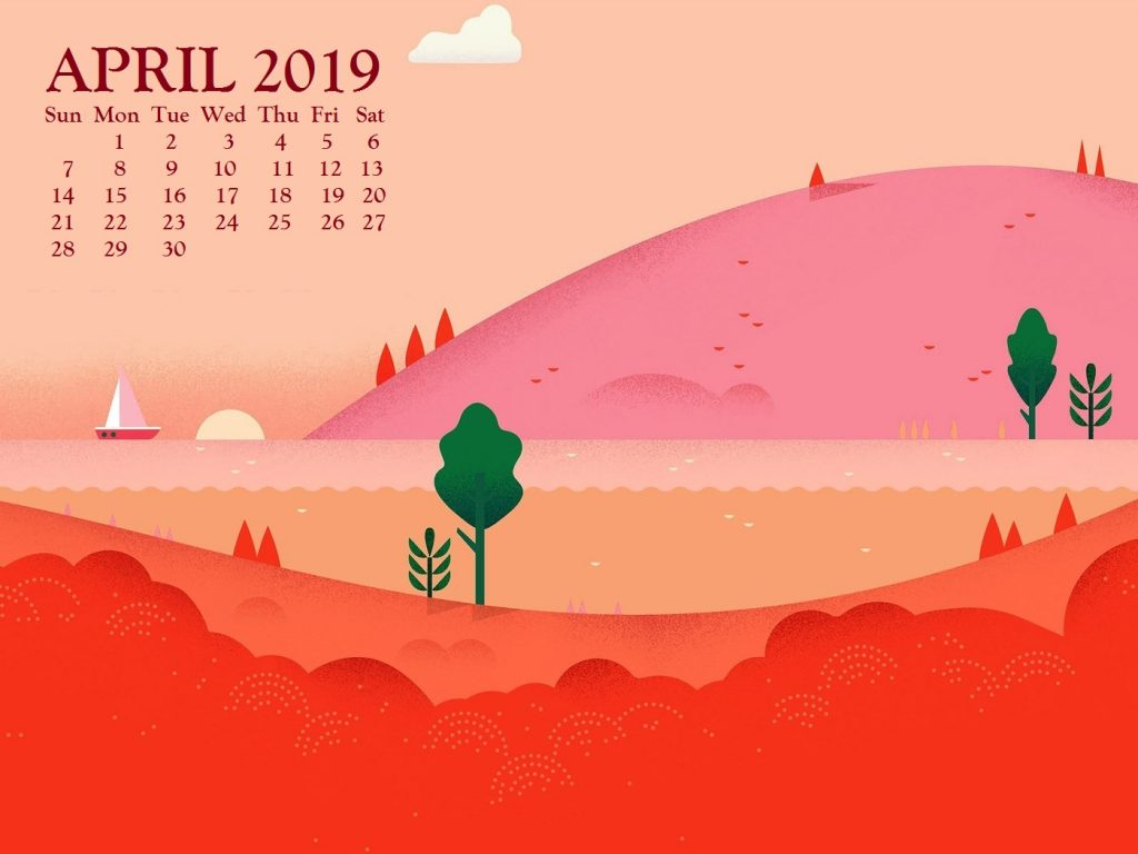 April 2019 Computer Wallpaper