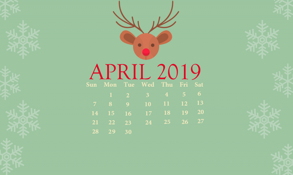 April 2019 Desktop Background Calendar
