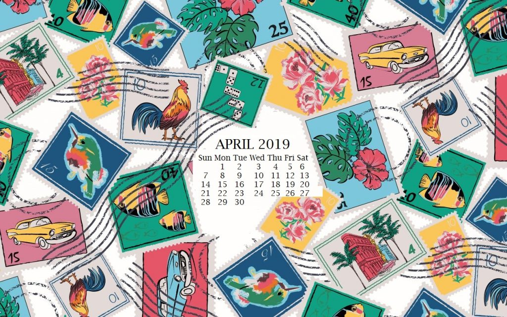 April 2019 Desktop Calendar