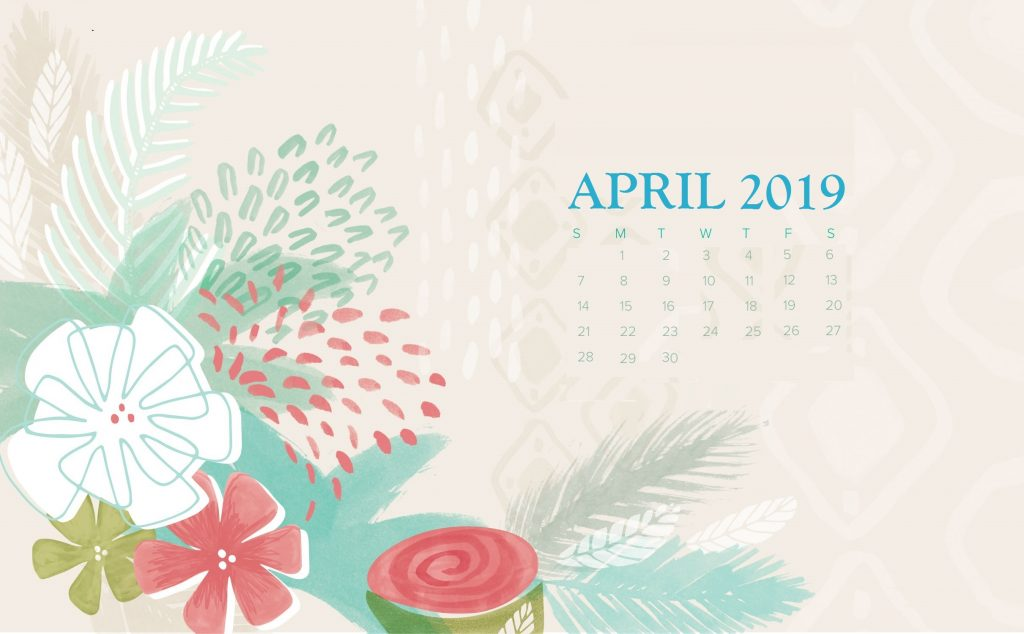 April 2019 Desktop Wallpaper With Calendar