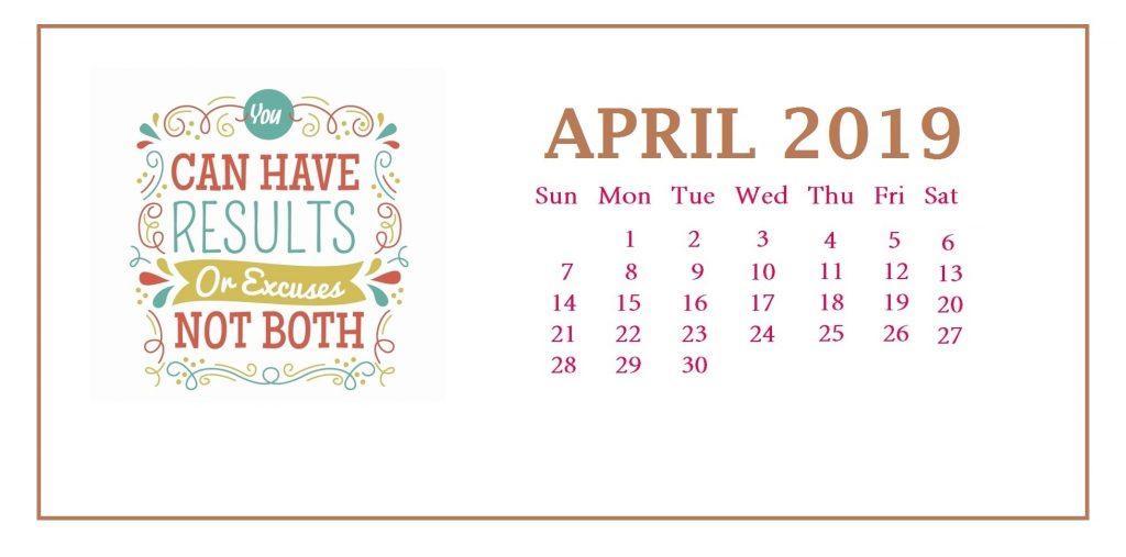 April 2019 Quotes Desk Calendar