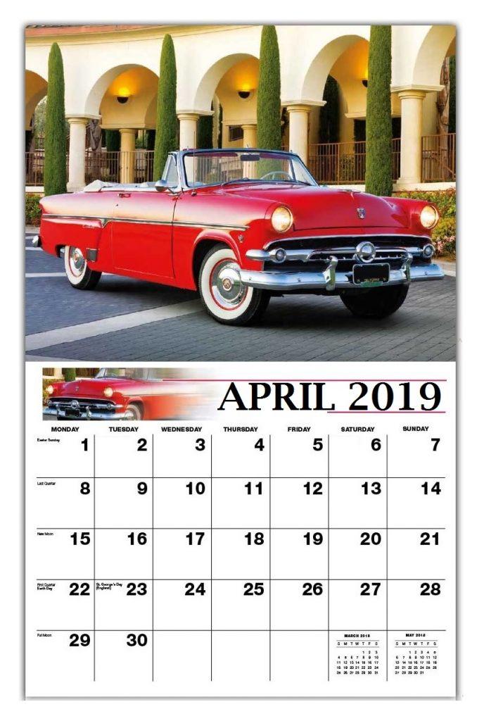 April 2019 Wall Calendar
