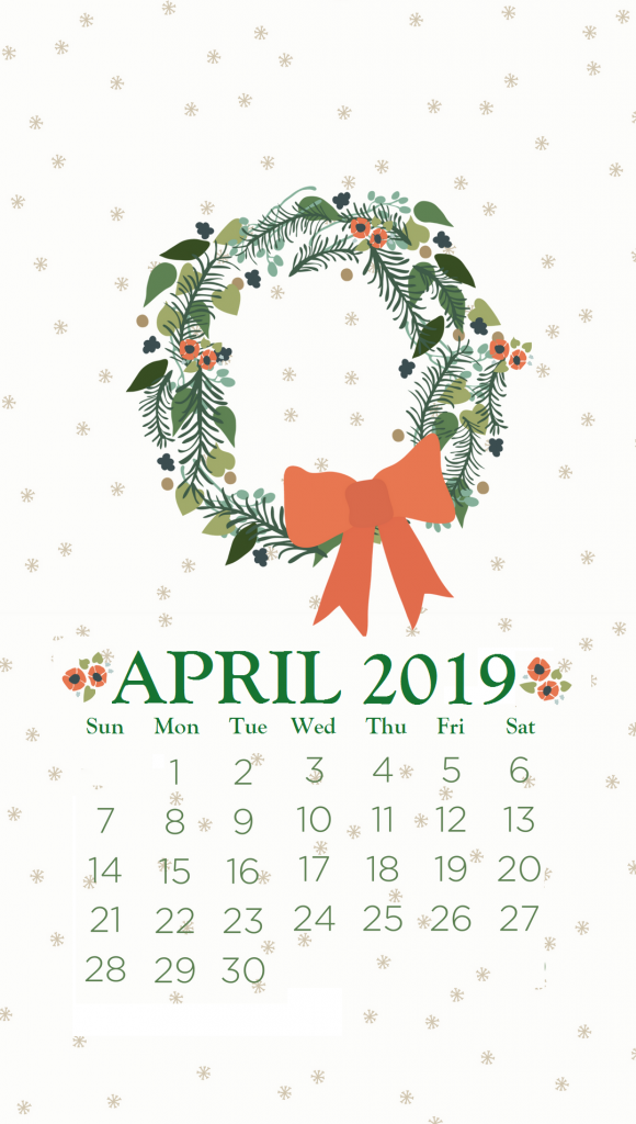 April 2019 iPhone Background Wallpaper