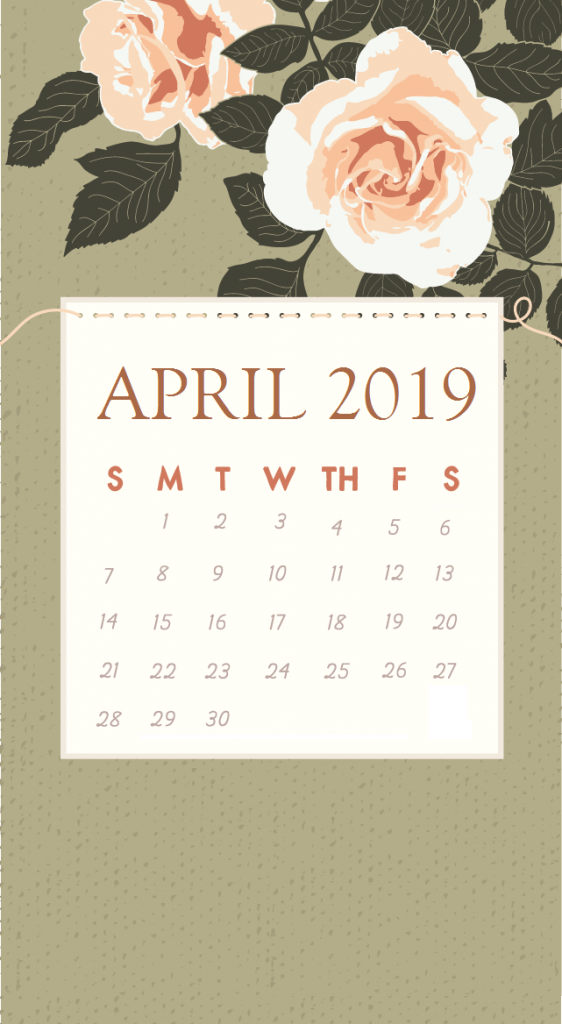 Best April 2019 iPhone Calendar