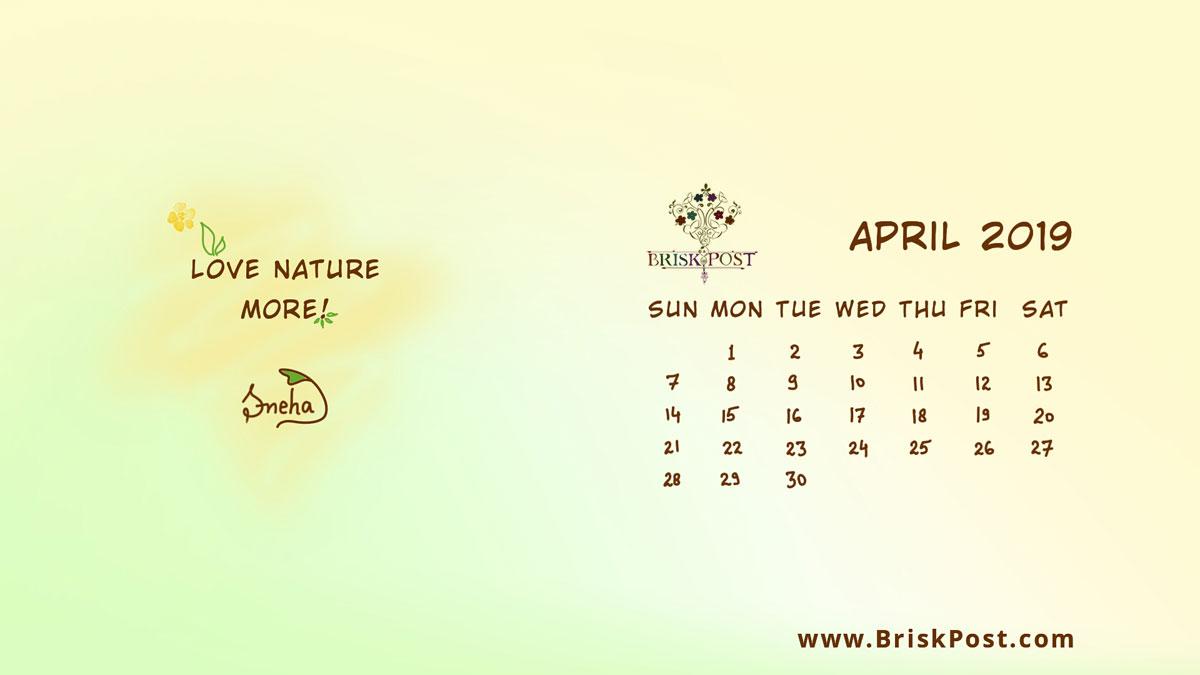 Hindu Panchang April 2019 Calendar