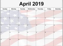 Printable April 2019 Calendar Australia