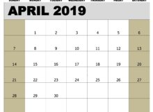 Printable April 2019 Calendar Tamil