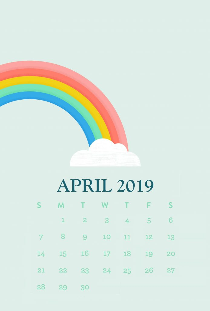 iPhone April 2019 Calendar
