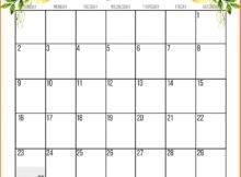 Floral June 2019 Wall Calendar Designs