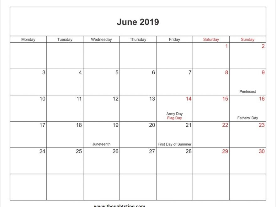 June 2019 Calendar Philippines with Holidays