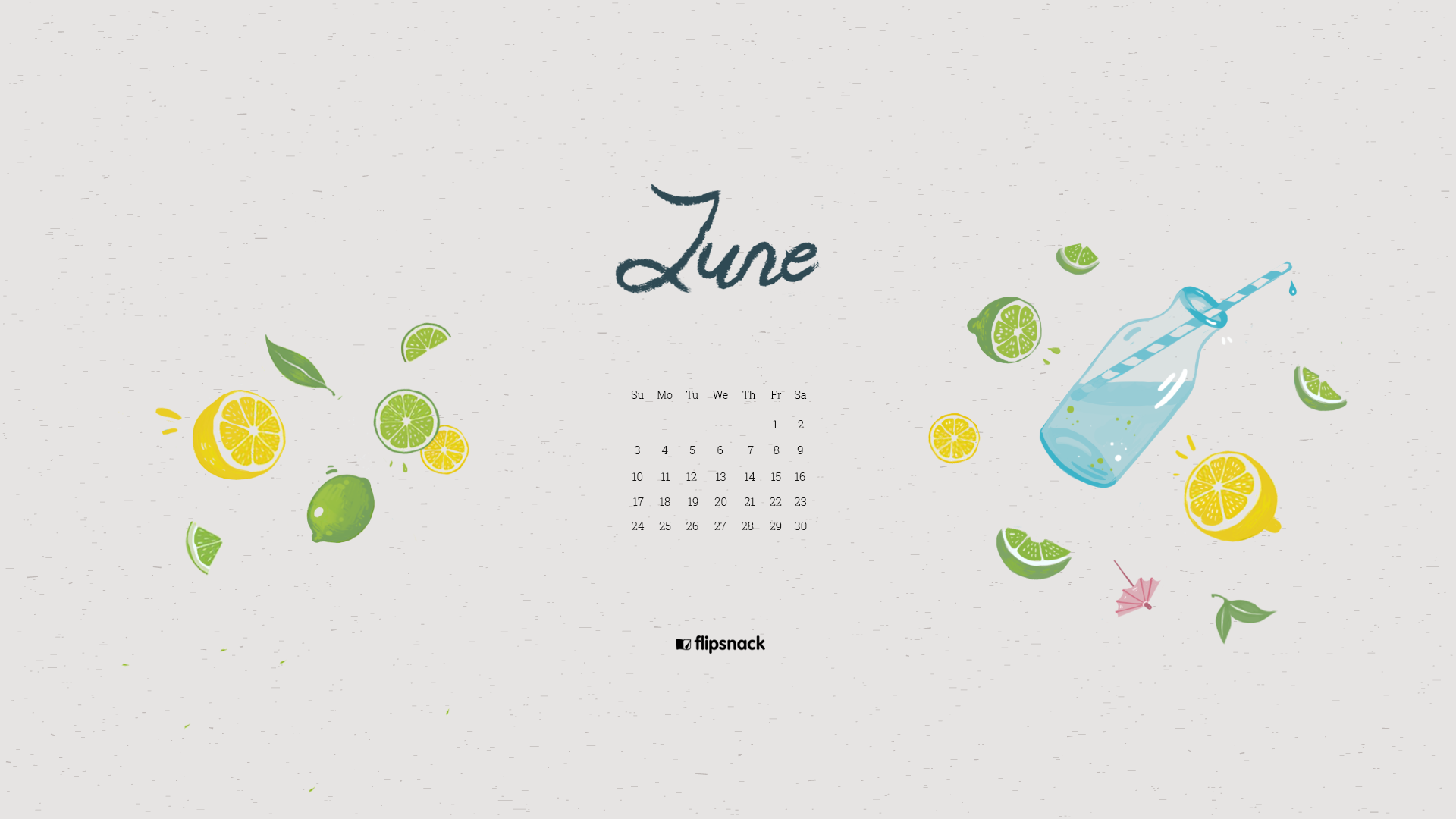 June 2019 Wallpaper Calendar