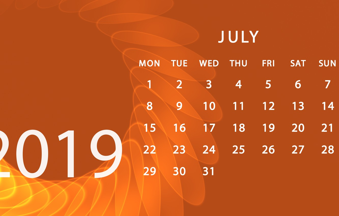 Floral July 2019 Wall Calendar Designs