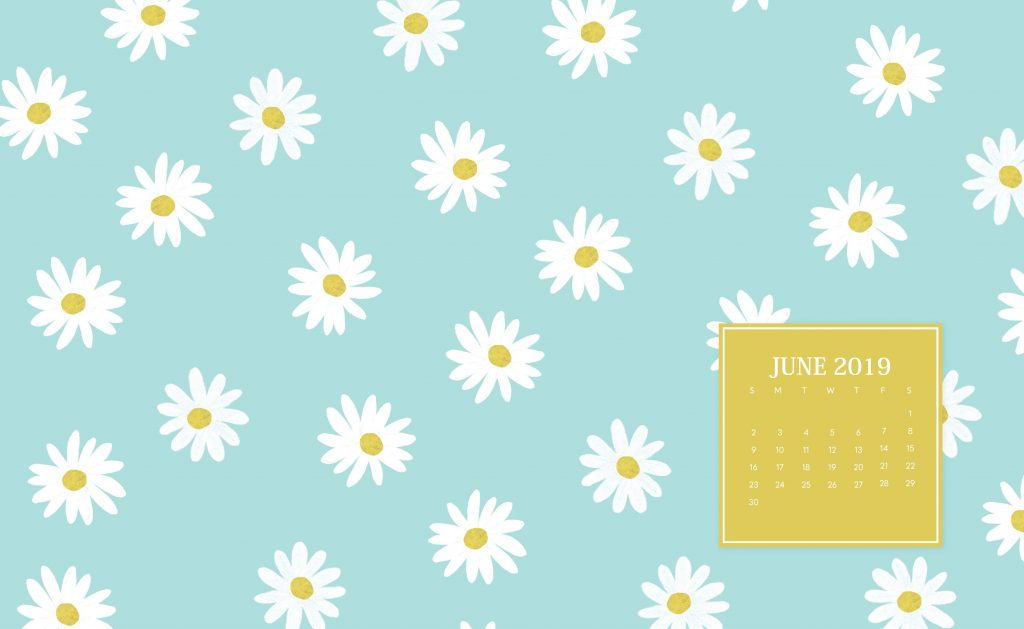 Floral June 2019 Desktop Wallpaper
