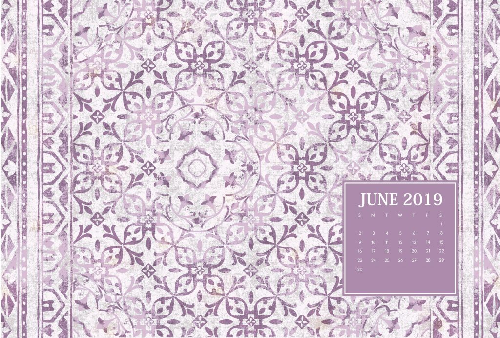 Free June 2019 Desktop Calendar