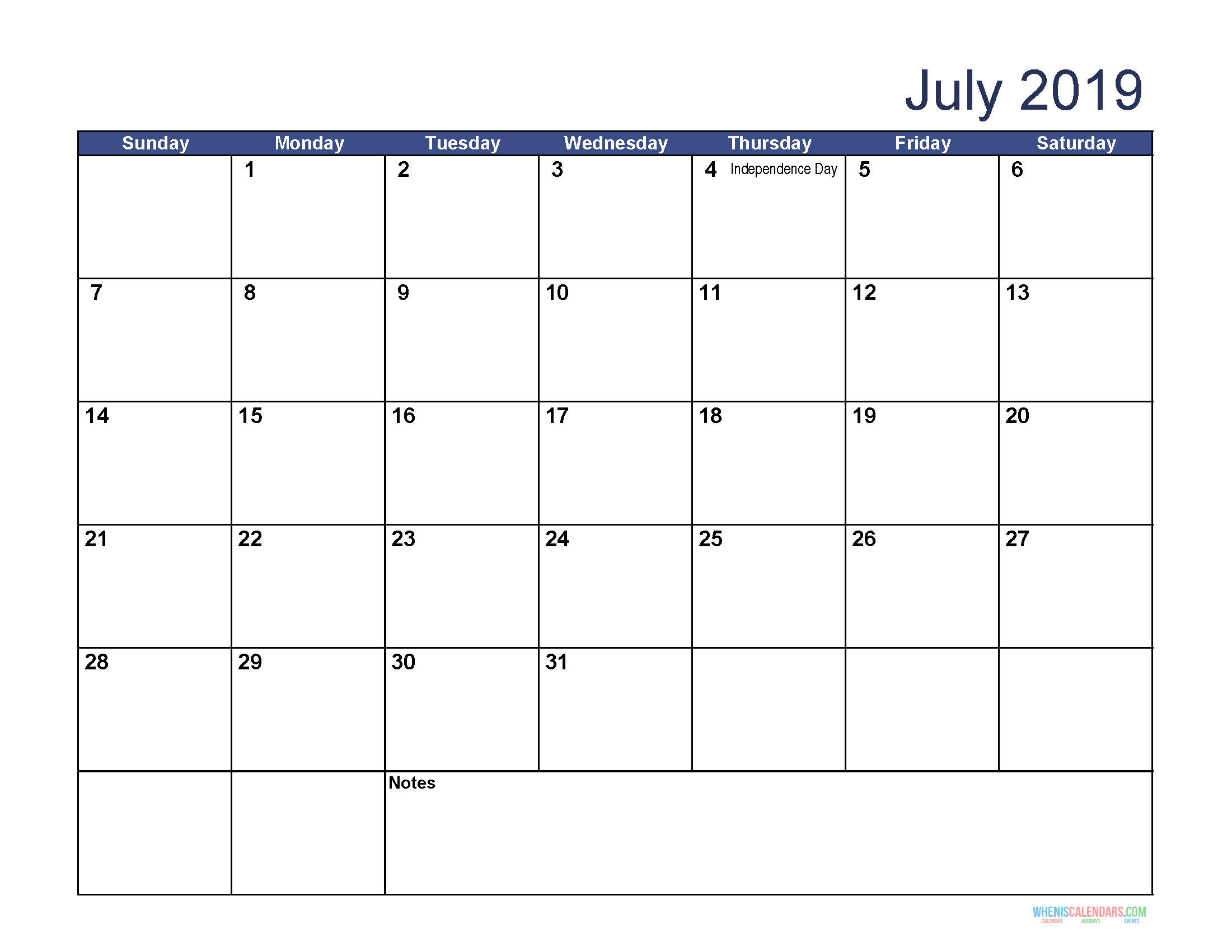 photo regarding Monthly Printable Calendars identify July 2019 Month-to-month Printable Calendar