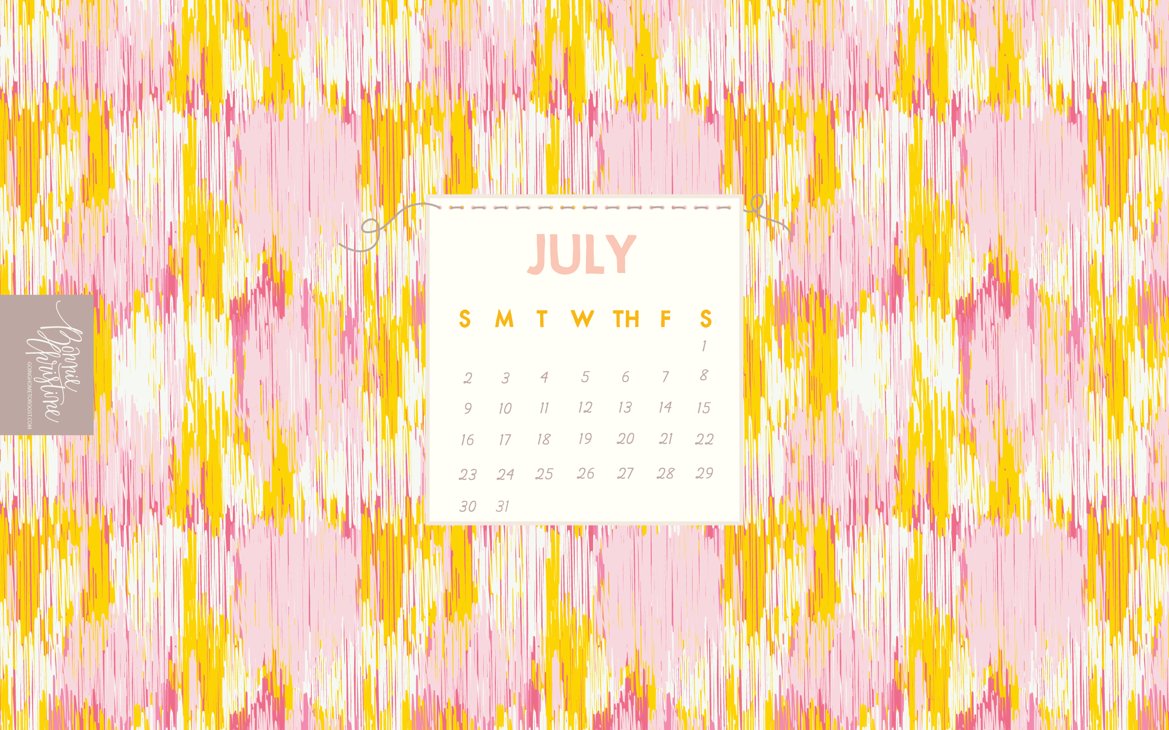 July 2019 Desk Calendar Wallpaper