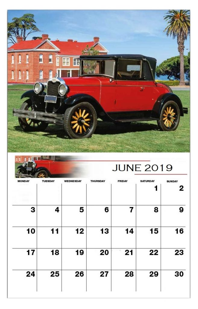 June 2019 Calendar For Office Wall