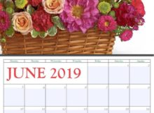 June 2019 Home Wall Calendar
