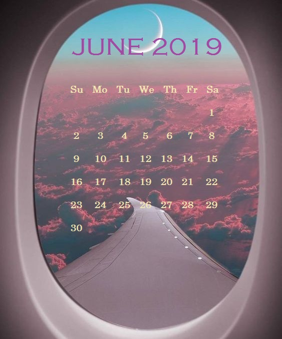 June 2019 iPhone Background Wallpaper