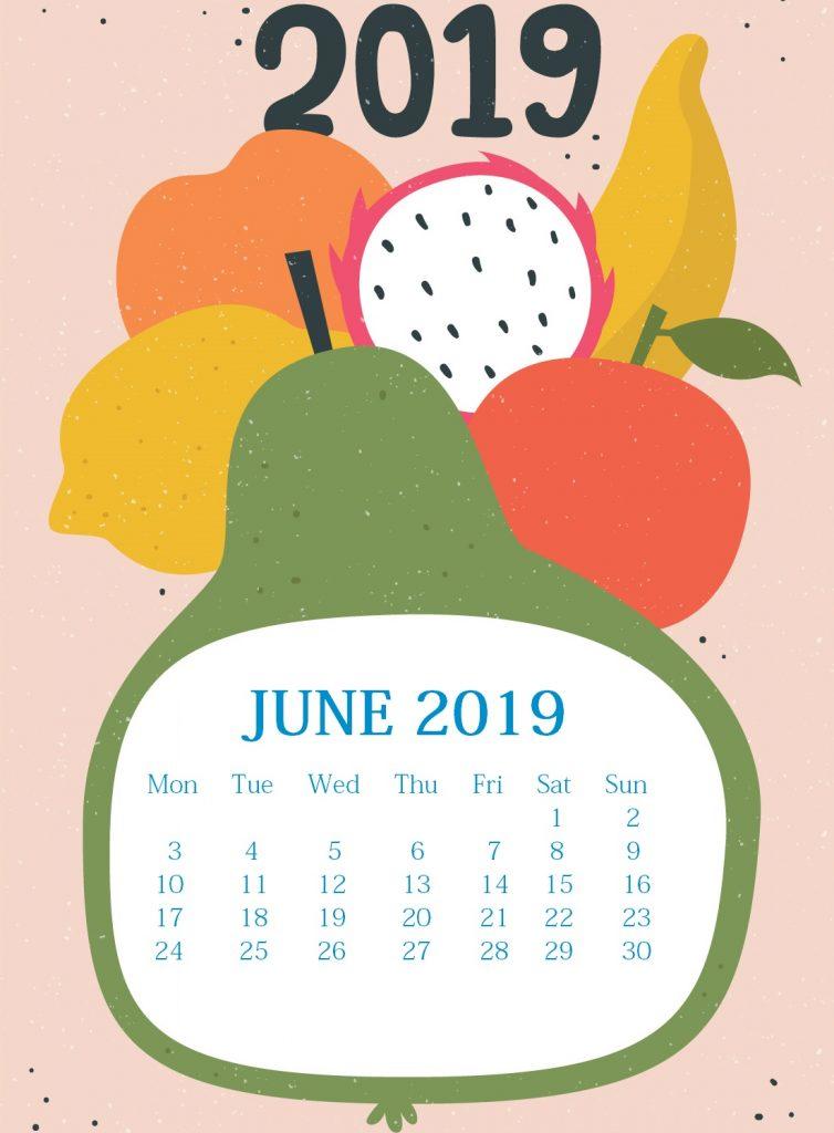 Watercolor June 2019 iPhone Background