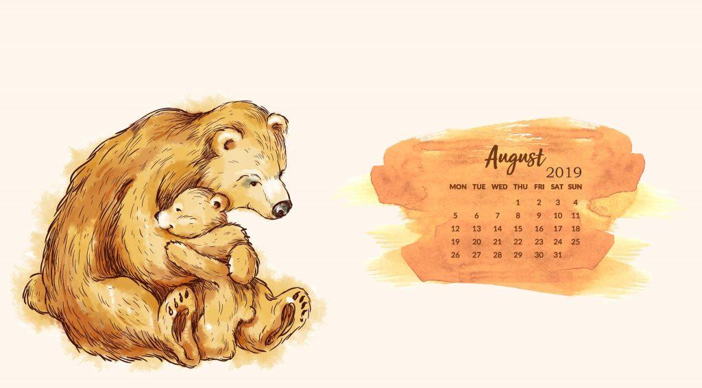 August 2019 HD Calendar Wallpapers