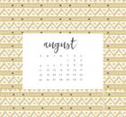 Canvas Design August 2019 Calendar