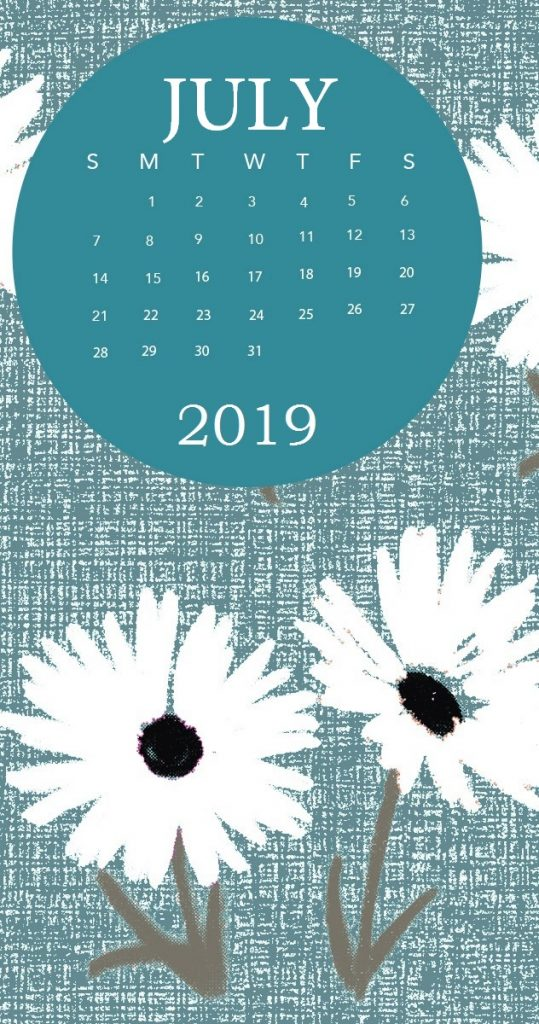 iPhone July 2019 Wallpaper Calendar
