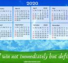2020 Inspirational Calendar with Quotes