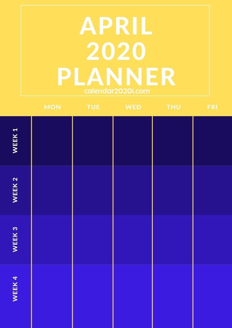 April 2020 Planner Printable