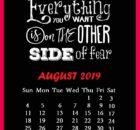 August 2019 Quotes Calendar