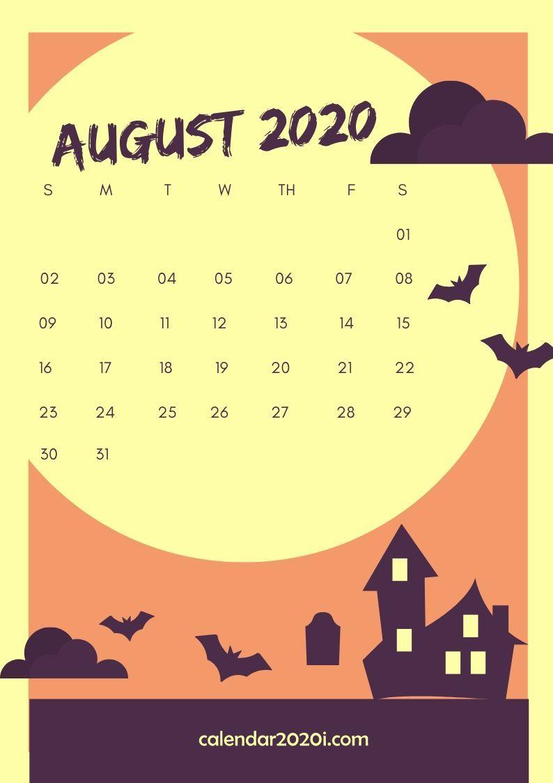 August 2020 Calendar Design
