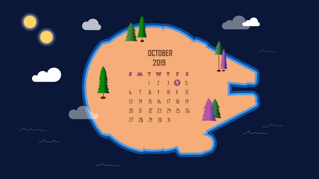 Best October 2019 Calendar Wallpaper