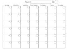 Blank August 2019 Weekly Planner