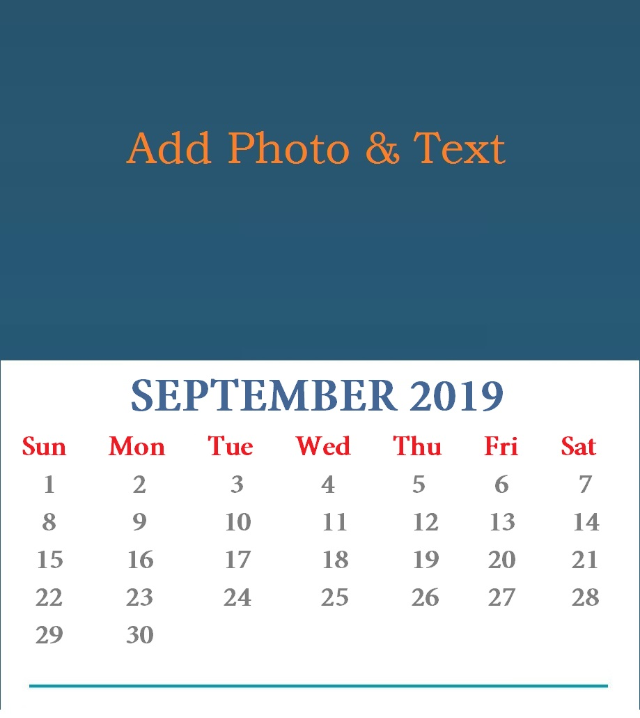 Cute September 2019 Desk Calendar