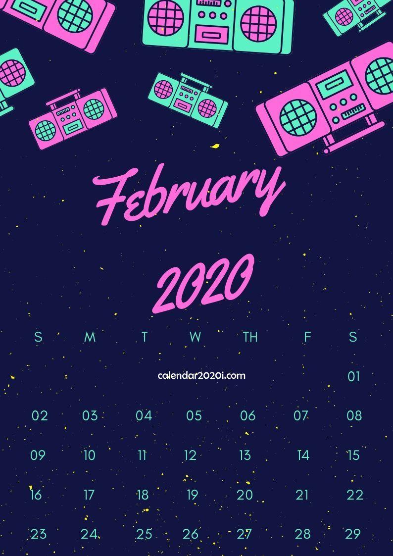 February 2020 Calendar Design