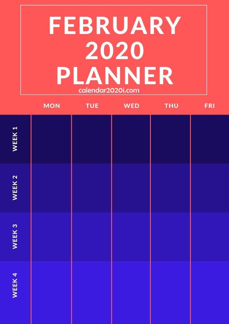 February 2020 Planner Printable