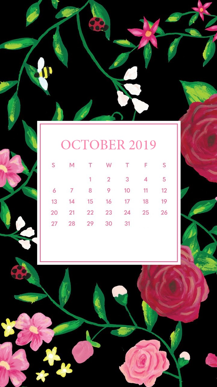 Floral October 2019 iPhone Wallpaper
