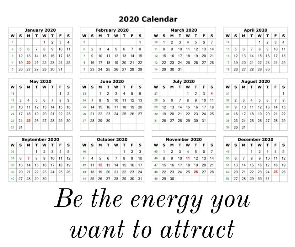 Inspiring 2020 Quotes Calendar