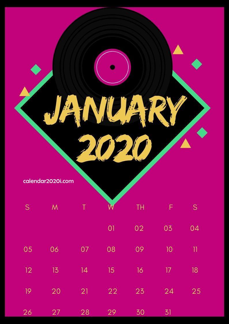 January 2020 Calendar Design