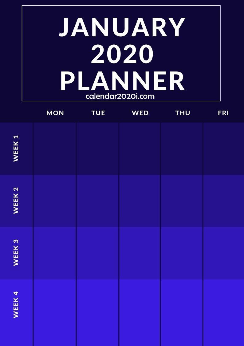January 2020 Planner Printable