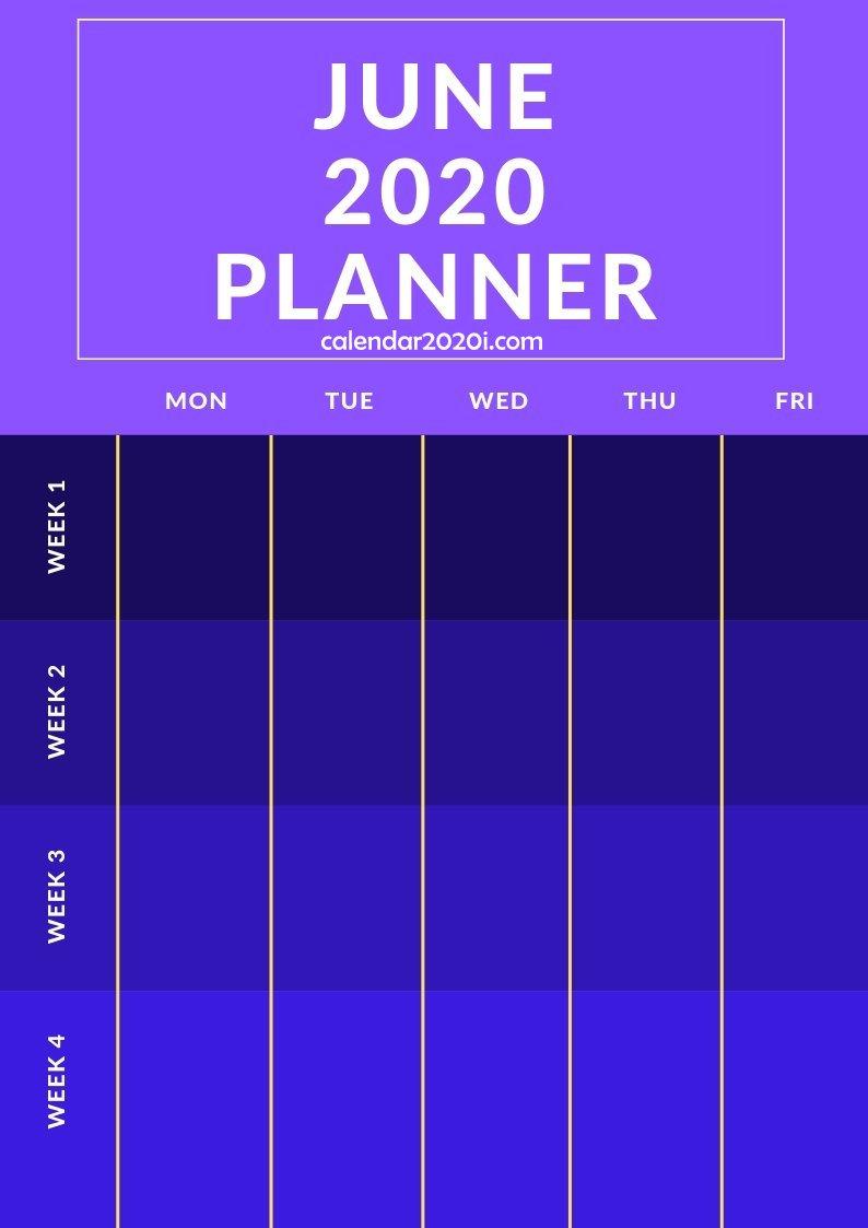 June 2020 Planner Printable