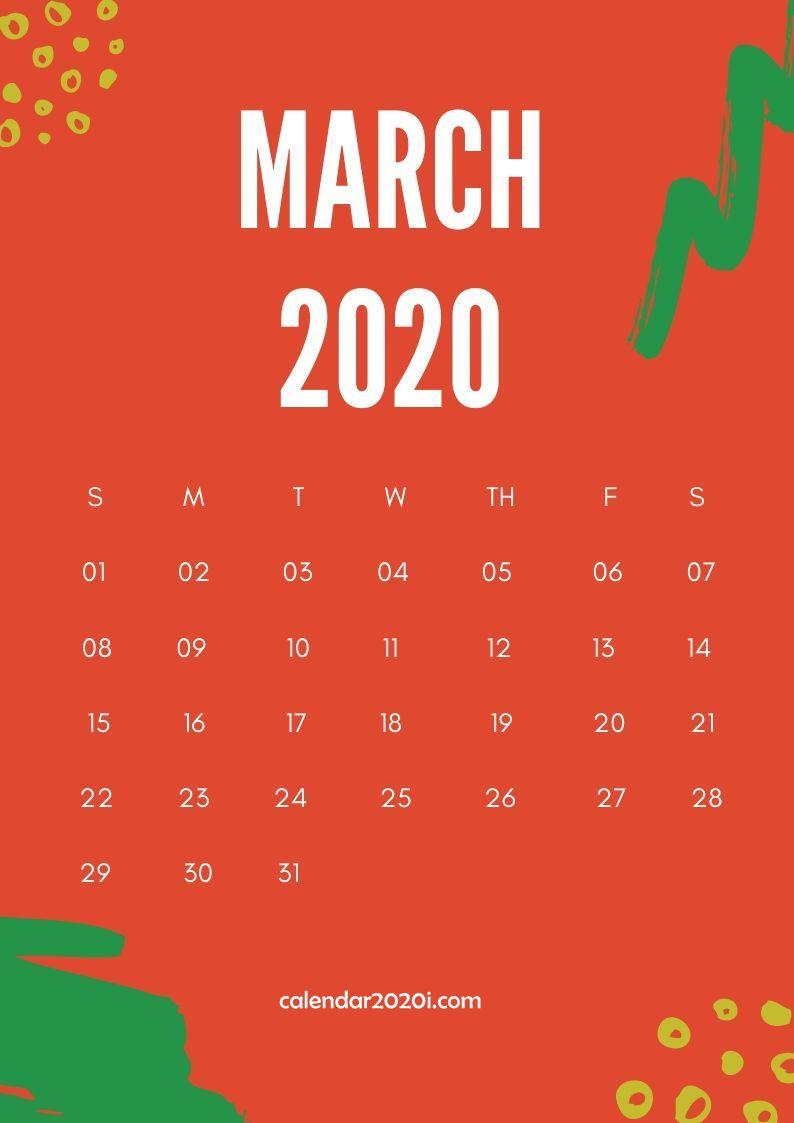 March 2020 Calendar Design